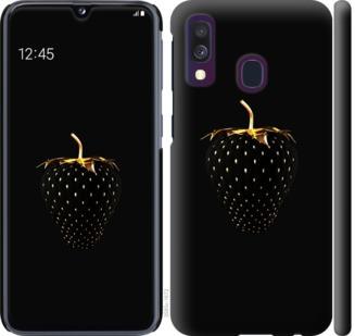 Чехол на Samsung Galaxy A40 2019 A405F Черная клубника