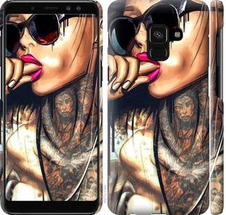 Чехол на Samsung Galaxy A8 2018 A530F Девушка в тату