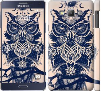 Чехол на Samsung Galaxy A7 A700H Узорчатая сова