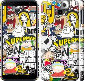 Чехол на Samsung Galaxy J4 Plus 2018 Popular logos