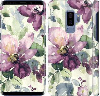 Чехол на Samsung Galaxy S9 Plus Цветы акварелью
