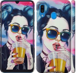 Чехол на Samsung Galaxy A20 2019 A205F Арт-девушка в очках