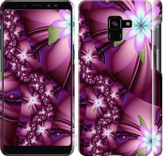 Чехол на Samsung Galaxy A8 Plus 2018 A730F Цветочная мозаика