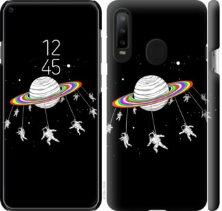 Чехол на Samsung Galaxy A8S Лунная карусель
