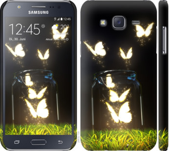 Чехол на Samsung Galaxy J5 (2015) J500H Светящиеся бабочки