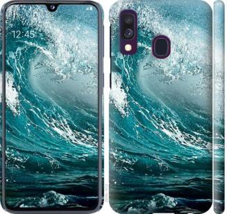 Чехол на Samsung Galaxy A40 2019 A405F Морская волна