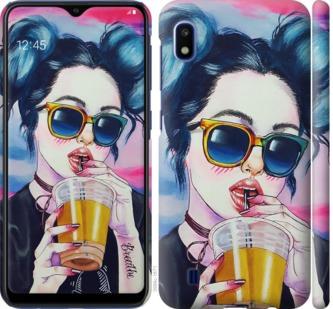 Чехол на Samsung Galaxy A10 2019 A105F Арт-девушка в очках