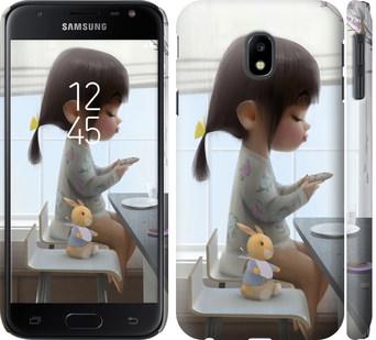 Чехол на Samsung Galaxy J3 (2017) Милая девочка с зайчиком