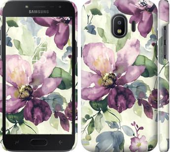 Чехол на Samsung Galaxy J2 2018 Цветы акварелью
