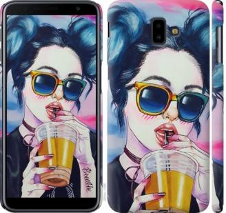 Чехол на Samsung Galaxy J6 Plus 2018 Арт-девушка в очках