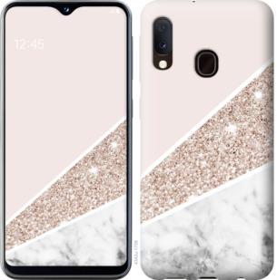 Чехол на Samsung Galaxy A20e A202F Пастельный мрамор
