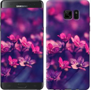 Чехол на Samsung Galaxy Note 7 Duos N930F Пурпурные цветы