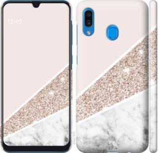 Чехол на Samsung Galaxy A20 2019 A205F Пастельный мрамор