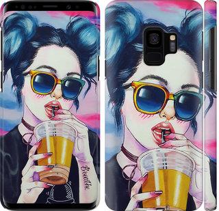 Чехол на Samsung Galaxy S9 Арт-девушка в очках