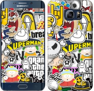 Чехол на Samsung Galaxy S6 Edge Plus G928 Popular logos