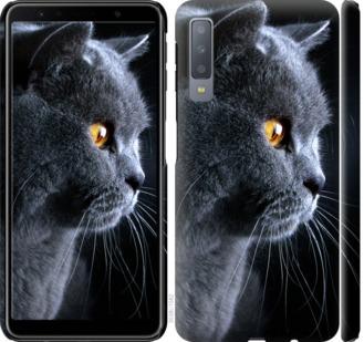 Чехол на Samsung Galaxy A7 (2018) A750F Красивый кот