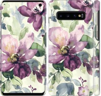 Чехол на Samsung Galaxy S10 Цветы акварелью