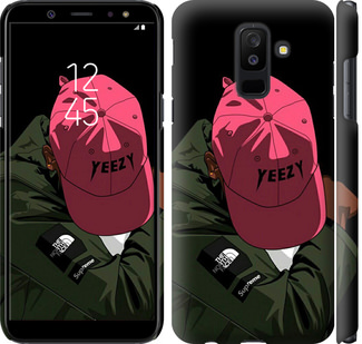 Чехол на Samsung Galaxy A6 Plus 2018 logo de yeezy