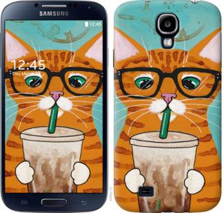 Чехол на Samsung Galaxy S4 i9500 Зеленоглазый кот в очках