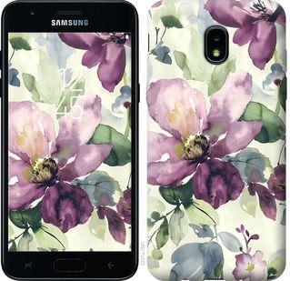 Чехол на Samsung Galaxy J3 2018 Цветы акварелью