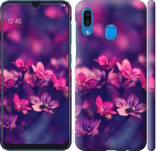 Чехол на Samsung Galaxy A20 2019 A205F Пурпурные цветы