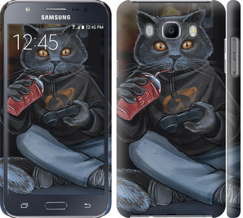 Чехол на Samsung Galaxy J7 (2016) J710F gamer cat