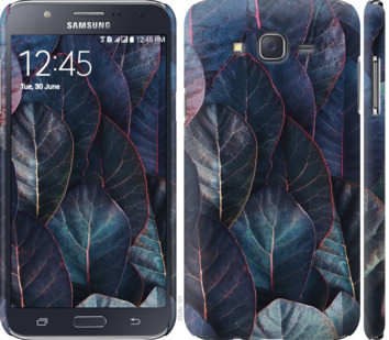 Чехол на Samsung Galaxy J7 J700H Листья v3