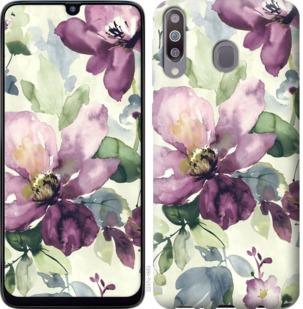 Чехол на Samsung Galaxy M30 Цветы акварелью
