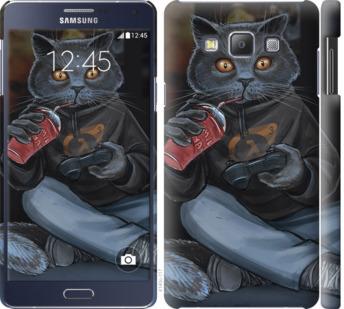 Чехол на Samsung Galaxy A7 A700H gamer cat