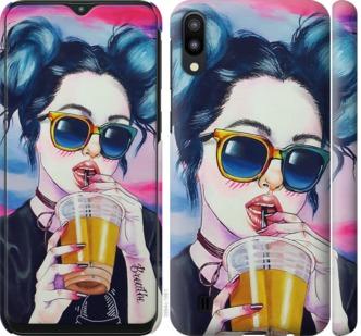 Чехол на Samsung Galaxy M10 Арт-девушка в очках