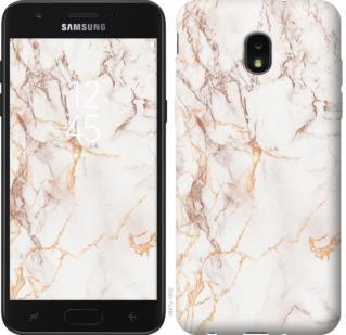 Чехол на Samsung Galaxy J7 2018 Белый мрамор