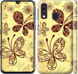 Чехол на Samsung Galaxy A40 2019 A405F Красивые бабочки