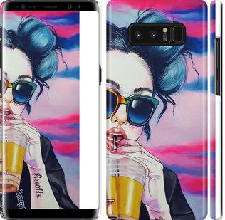 Чехол на Samsung Galaxy Note 8 Арт-девушка в очках