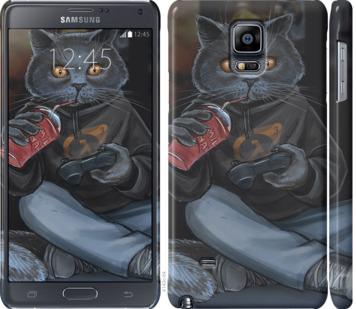 Чехол на Samsung Galaxy Note 4 N910H gamer cat