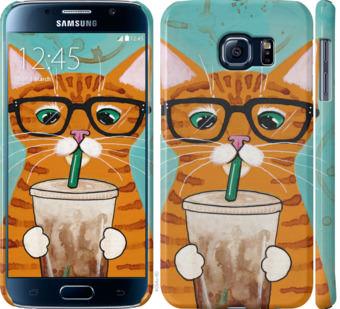 Чехол на Samsung Galaxy S6 G920 Зеленоглазый кот в очках