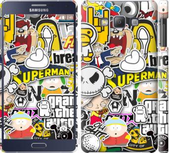Чехол на Samsung Galaxy A7 A700H Popular logos