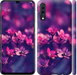 Чехол на Samsung Galaxy A70 2019 A705F Пурпурные цветы