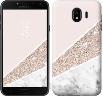 Чехол на Samsung Galaxy J4 2018 Пастельный мрамор