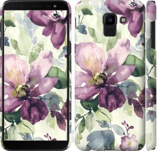 Чехол на Samsung Galaxy J6 2018 Цветы акварелью