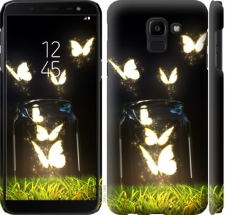 Чехол на Samsung Galaxy J6 2018 Светящиеся бабочки