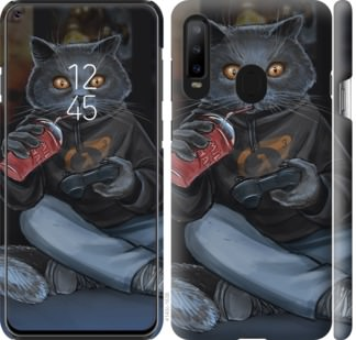 Чехол на Samsung Galaxy A8S gamer cat