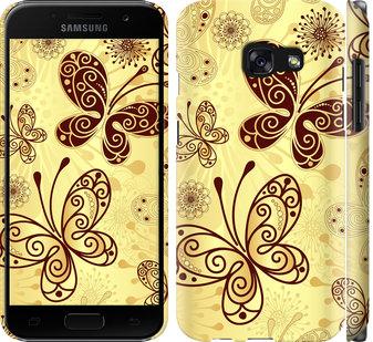 Чехол на Samsung Galaxy A3 (2017) Красивые бабочки