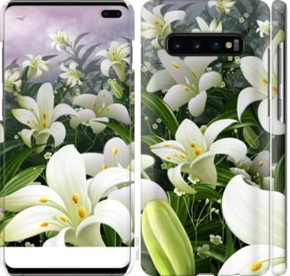 Чехол на Samsung Galaxy S10 Plus Белые лилии