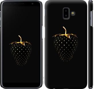 Чехол на Samsung Galaxy J6 Plus 2018 Черная клубника