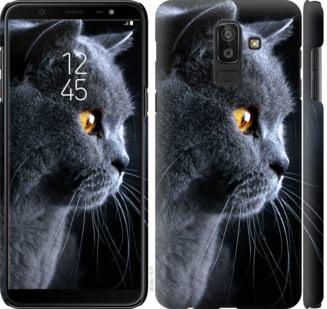 Чехол на Samsung Galaxy J8 2018 Красивый кот