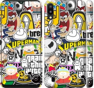 Чехол на Samsung Galaxy M10 Popular logos