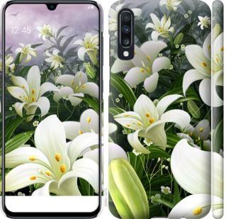 Чехол на Samsung Galaxy A70 2019 A705F Белые лилии