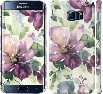 Чехол на Samsung Galaxy S6 Edge G925F Цветы акварелью