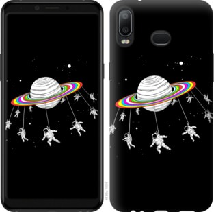Чехол на Samsung Galaxy A6s Лунная карусель