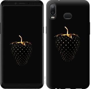 Чехол на Samsung Galaxy A6s Черная клубника